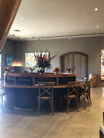 When can we go back? The cozy and comfortable tasting room at Eleven Eleven Winery. IMAGE: MARIA A. KARAMITSOS